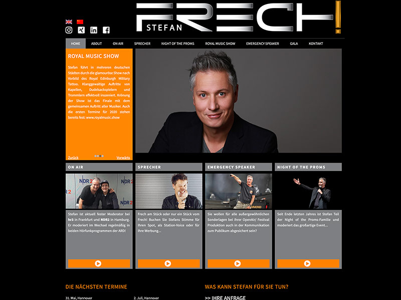 Stefan Frech Website