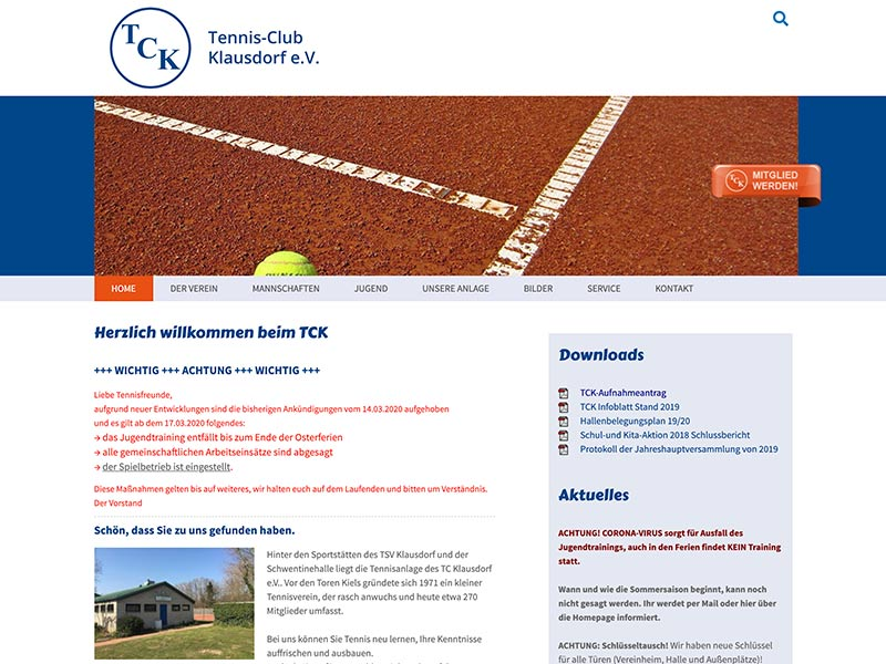 Website TC Klausdorf