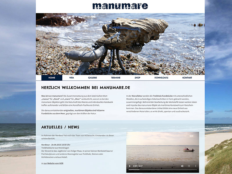 Manumare Website